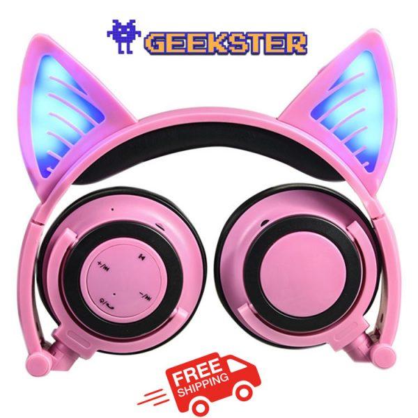 bluetooth headphones cat ear light up Canada